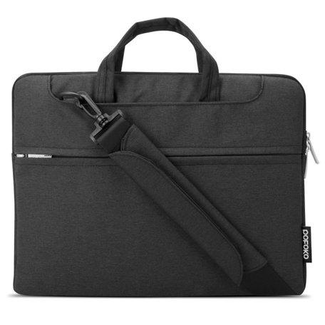POFOKO 11.6 inch laptoptas met schouderband - Zwart