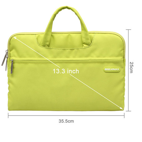 GEARMAX 13.3 inch fashion design laptoptas - Groen