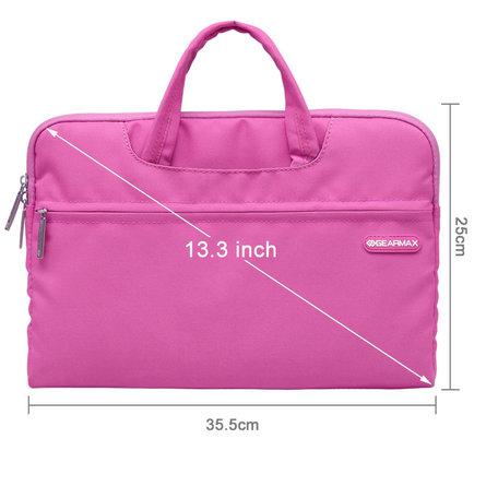 GEARMAX 13.3 inch fashion design laptoptas - Roze