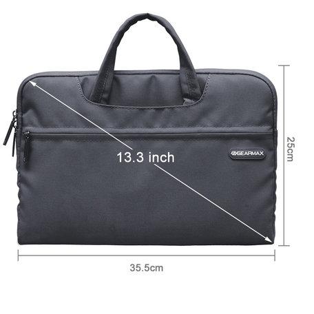GEARMAX 13.3 inch fashion design laptoptas - Zwart
