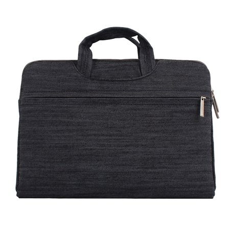 Denim laptoptas 12 inch - Zwart