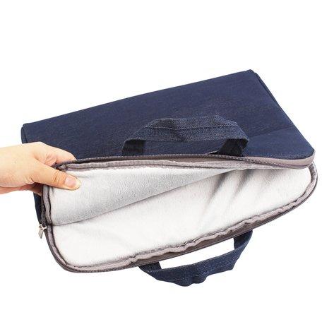 Denim laptoptas 13.3 inch - Donker blauw