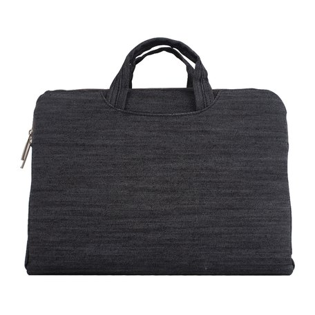 Denim laptoptas 15.4 inch - Zwart