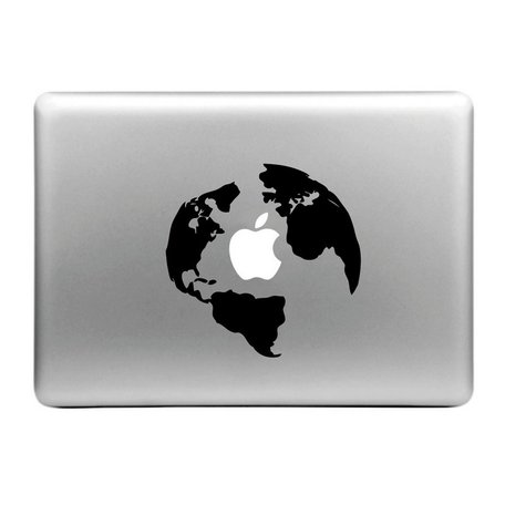 MacBook sticker - Wereld
