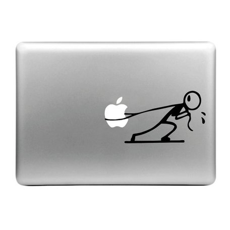 MacBook sticker - poppetje