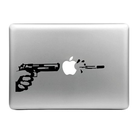 MacBook sticker - Pistool