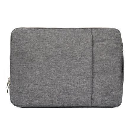 11.6 / 12 inch sleeve met extra vak - grijs