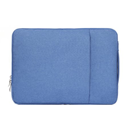 11.6 / 12 inch sleeve met extra vak - licht blauw