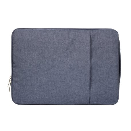 15 inch sleeve met extra vak - Donker blauw
