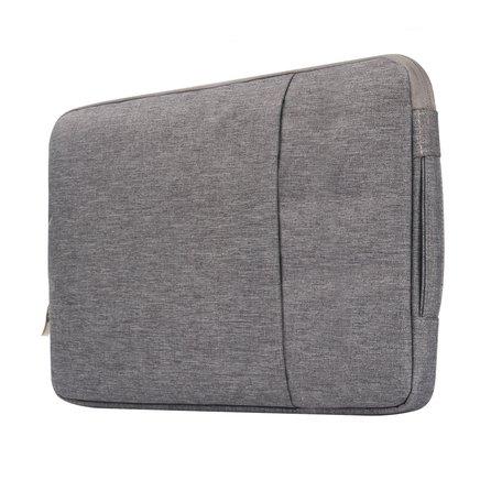 15 inch sleeve met extra vak - grijs