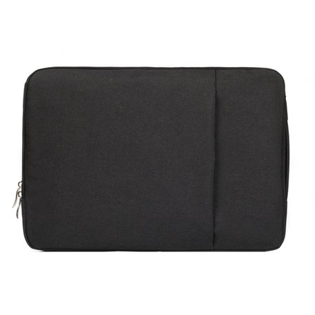 11.6 / 12 inch sleeve met extra vak - zwart