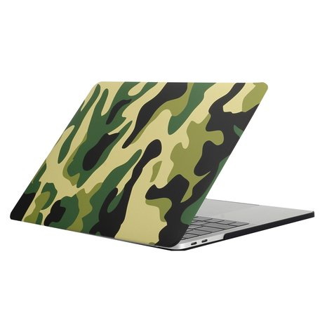 MacBook Pro retina touchbar 13 inch case - camo groen