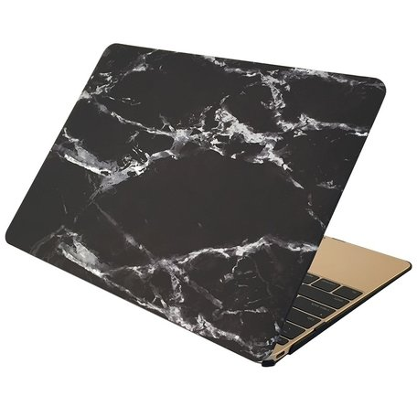 MacBook Air 13 inch case - Marble - zwart
