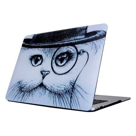 MacBook Air 13 inch cover - Wise cat (A1369 / A1466)