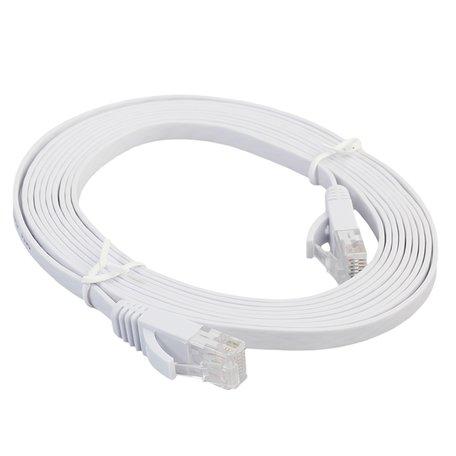 3m CAT6 Ultra dunne Flat Ethernet netwerk LAN kabel (1000Mbps) - Wit