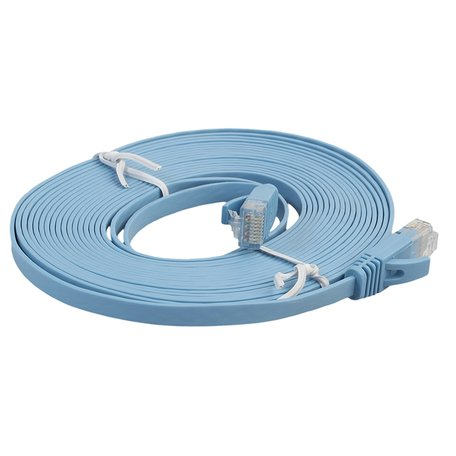 5m CAT6 Ultra dunne Flat Ethernet netwerk LAN kabel (1000Mbps) - Blauw