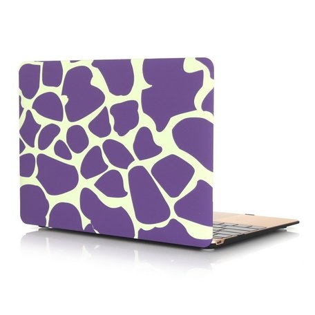 MacBook 12 inch case - Dot pattern - Paars