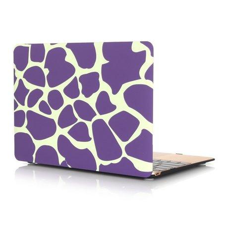 MacBook 12 inch case - Dot pattern - Paars