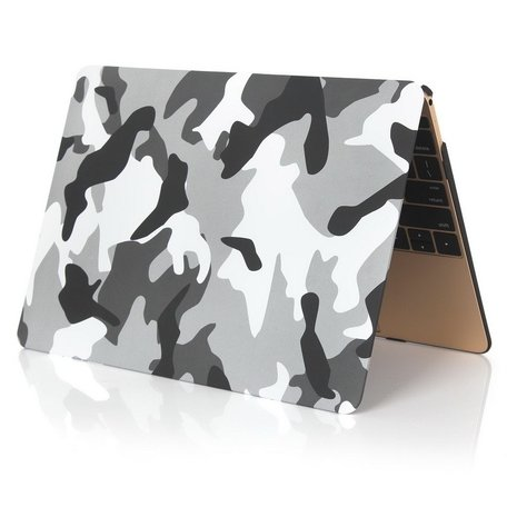 MacBook 12 inch case - Camouflage - Grijs