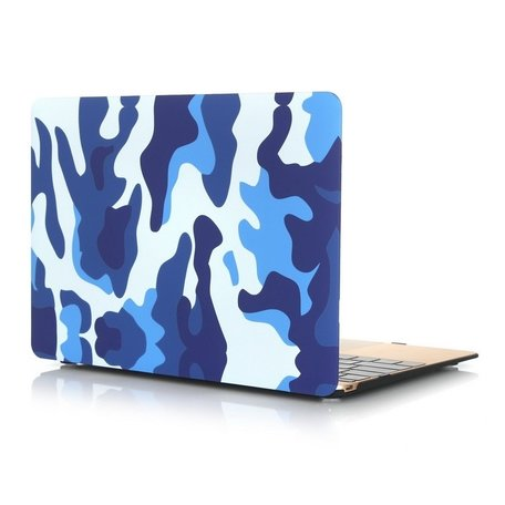 MacBook 12 inch case - Camouflage - Blauw