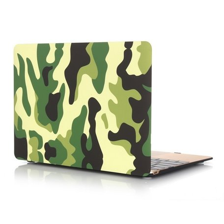 MacBook 12 inch case - Camouflage - Groen