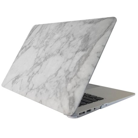 MacBook 12 inch case - Marble - wit
