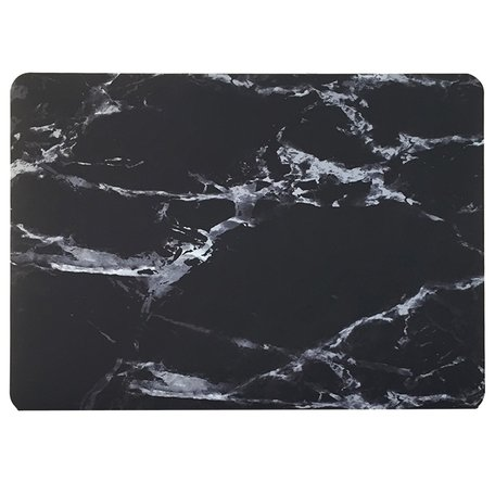 MacBook 12 inch case - Marble - zwart