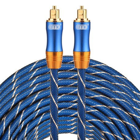 ETK Digital Toslink Optical kabel 30 meter / audio male to male / Optische kabel BLUE series - Blauw