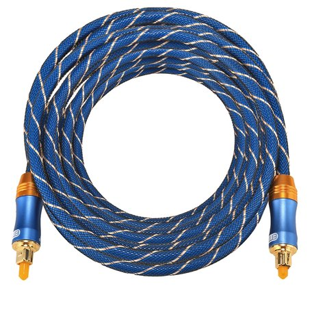 ETK Digital Toslink Optical kabel 8 meter / audio male to male / Optische kabel BLUE series - Blauw