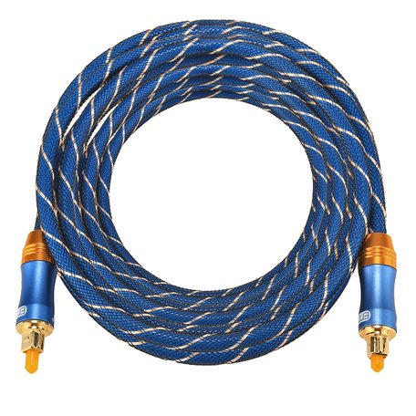 ETK Digital Toslink Optical kabel 5 meter / audio male to male / Optische kabel BLUE series - Blauw
