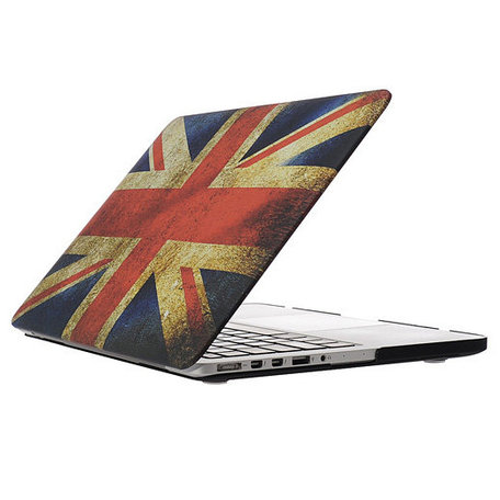 MacBook Pro Retina 13 inch cover - Retro UK flag