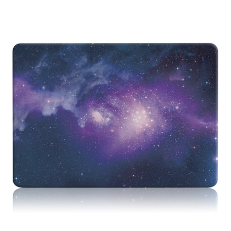 MacBook Air 13 inch case 2018 - Purple stars (A1932, touch id versie)