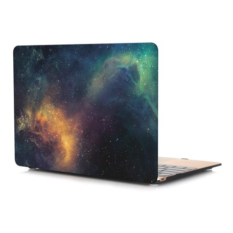 MacBook Air 13 inch case 2018 - Green stars (A1932, touch id versie)