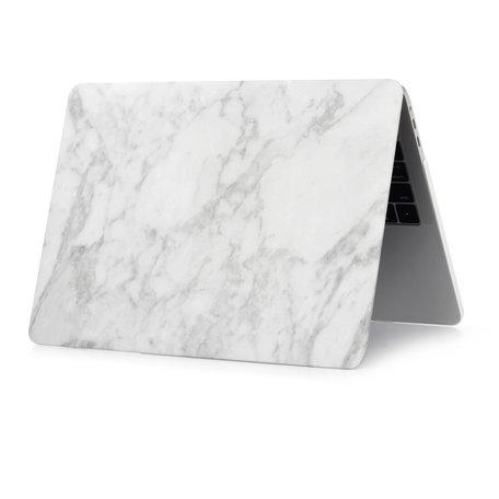 MacBook Air 13 inch case 2018 - Marble - wit (A1932, touch id versie)