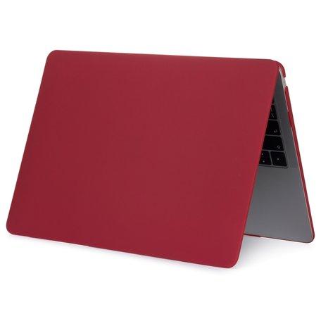 MacBook Air 13 inch case 2018 - bordeaux (A1932, touch id versie)