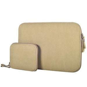 15.4 inch denim sleeve - Beige