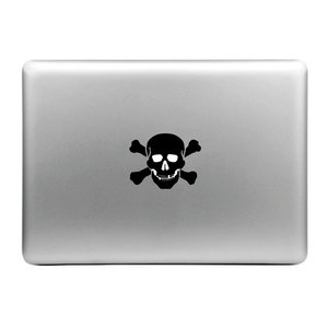 MacBook sticker - Apple skull
