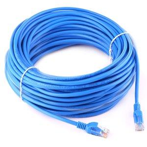 30m CAT5E internet netwerk LAN kabel (10000 Mbit/s) - Blauw