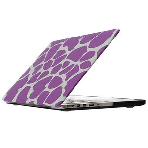 MacBook Pro 13 inch cover - Dot pattern paars