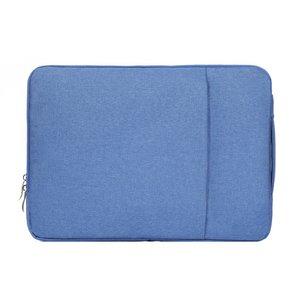 15 inch sleeve met extra vak - licht blauw