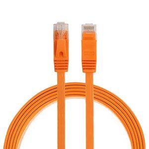 1m CAT6 Ultra dunne Flat Ethernet netwerk LAN kabel (1000Mbps) - Oranje