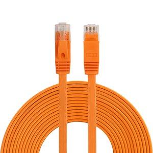 15m CAT6 Ultra dunne Flat Ethernet netwerk LAN kabel (1000Mbps) - Oranje