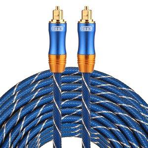 ETK Digital Toslink Optical kabel 25 meter / audio male to male / Optische kabel BLUE series - Blauw