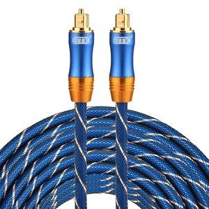 ETK Digital Toslink Optical kabel 20 meter / audio male to male / Optische kabel BLUE series - Blauw