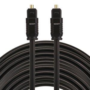ETK Digital Toslink Optical kabel 15 meter / audio male to male / Optische kabel PVC series - zwart